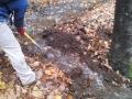 Draining some mud holes